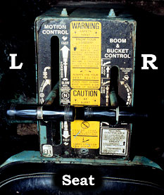 control panel with warning label