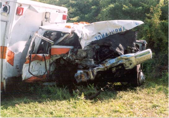 Damage to driver's cab