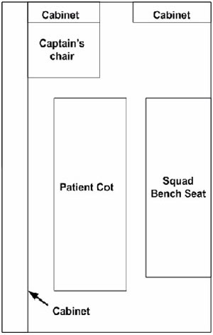 Type II Ambulance Patient Compartment