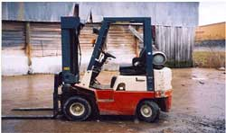 Forklift used on the day of the incident.