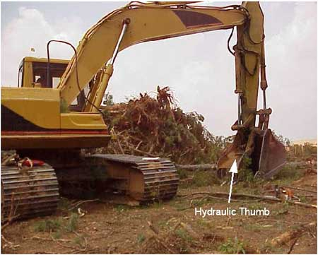 Excavator used at the incident site.