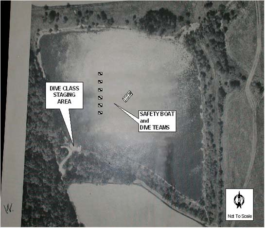 Photo 1. Aerial photo; Dive site