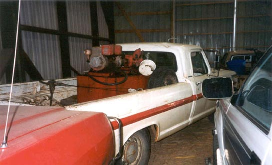 Photo 1. An example of a pickup truck equipped with portable pump