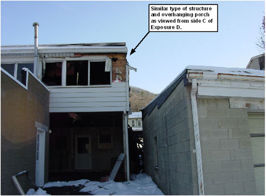 Photo 1. Rear Porch, Exposure D