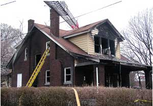 Photo of Incident Structure, Courtesy of Fire Department
