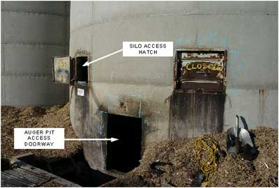 Photo 2. Auger pit door and hatches