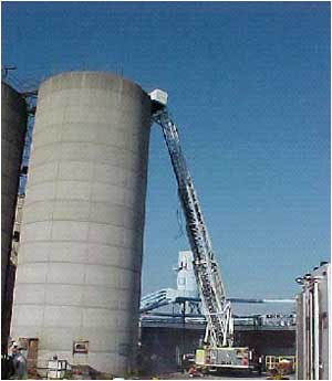 Silo involved in the incident