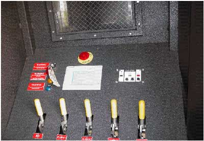 Photo 2. Operator control panel. Individual gas control valves are shown at the bottom.