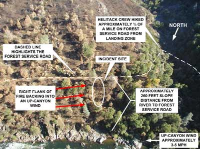 Photo 1. Aerial view of incident site.