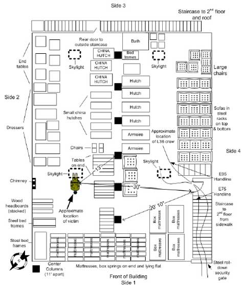 fire fighter fatality investigation report f2004-04 | cdc ... building fire diagram
