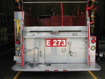 Tailboard of Engine 273