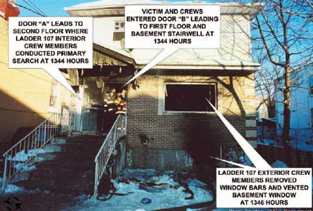 Photo 1. View of Side 1 of incident building.