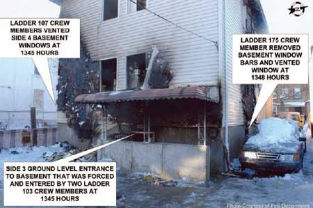 Photo 2. Rear view of incident building (Side 3).