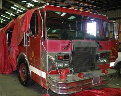 Engine involved in incident