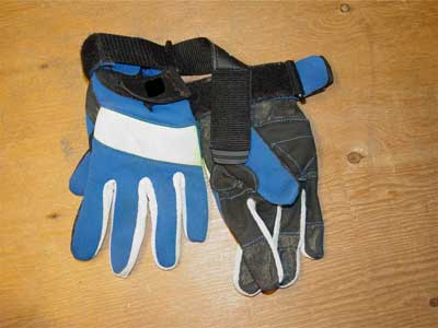Gloves worn by victim during incident