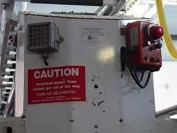 alarm and control box on truck