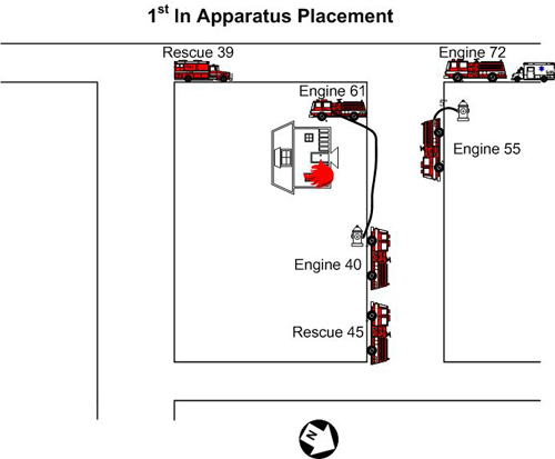 First-in apparatus placement