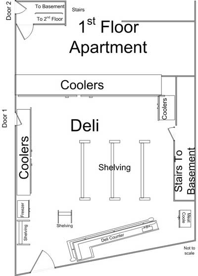 floor plan of deli