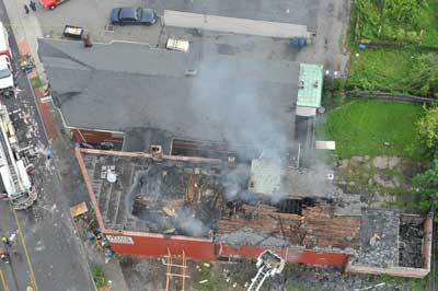 Aerial view of incident scene