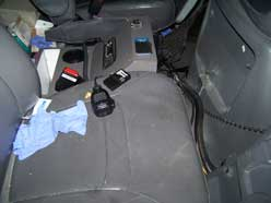 driver compartment of the ambulance