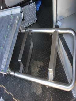 bench seat support rail after accident
