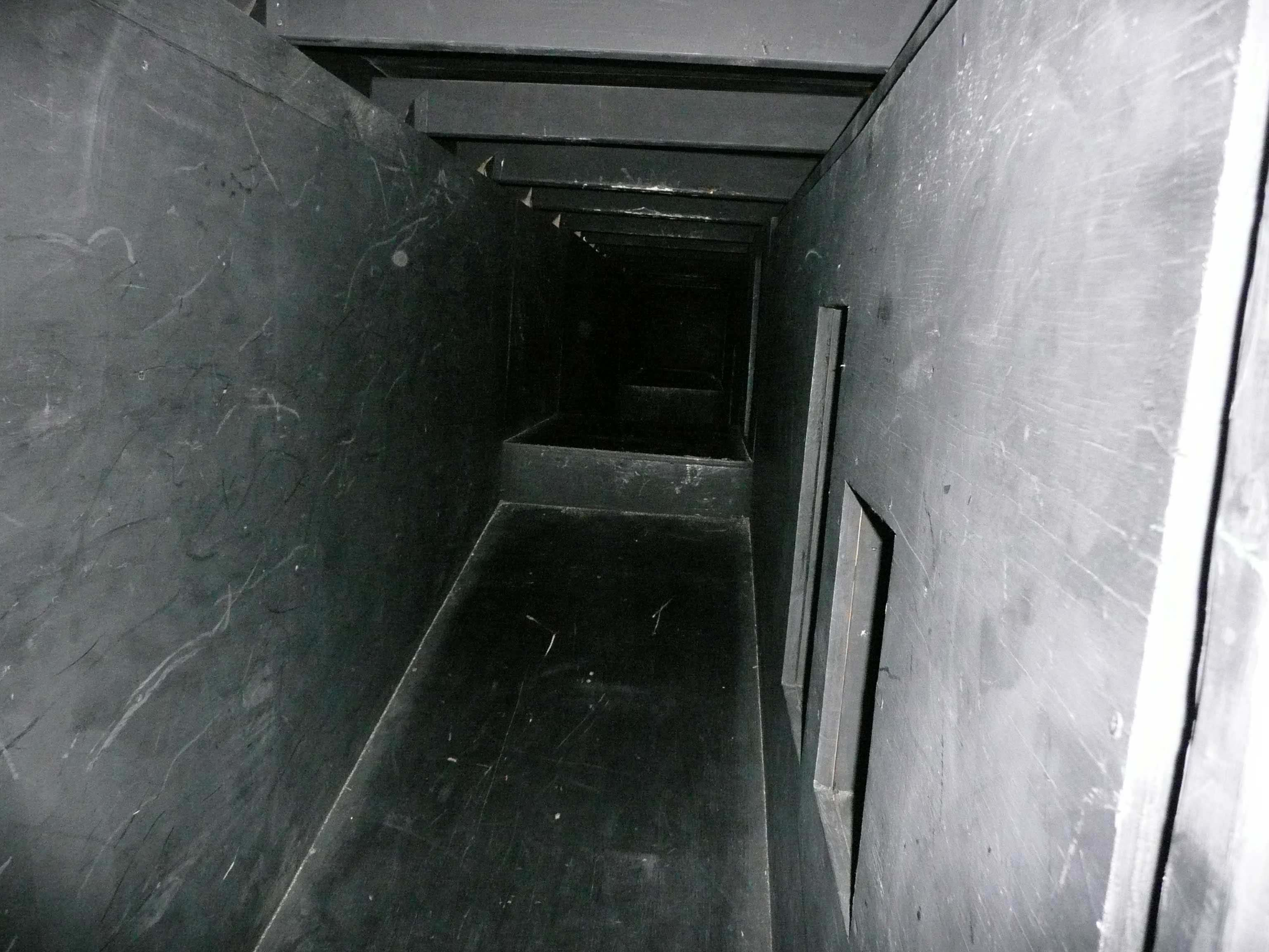 Inside the practical drill maze; incline slope