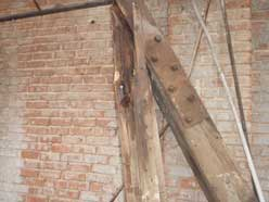 deteriorated truss end