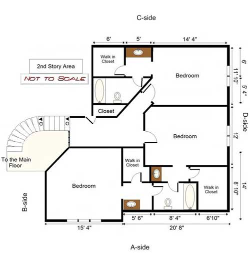 Building layout of 2nd floor