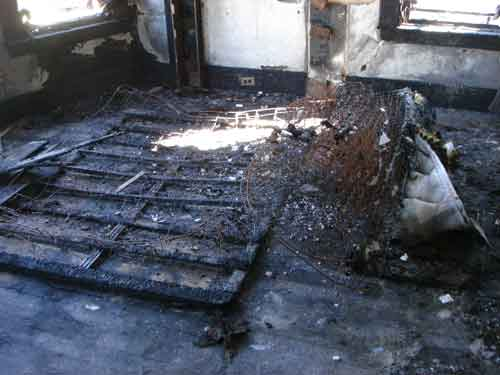 burned mattress