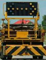 rear veiw of truck mounted attenuator