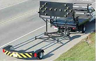 Aerial veiw of truck mounted attenuator