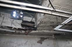 deteriorated ceiling conditions