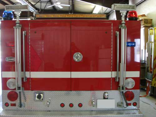 rear of rescue truck