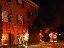photo 3  - heavy smoke from building