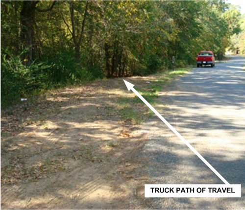 truck path of travel