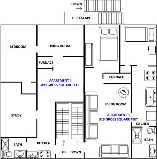 floor plan of 2nd floor