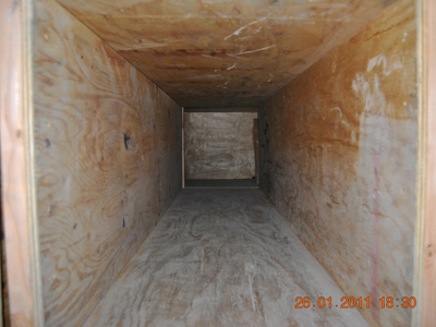 Interior of the maze tunnel measuring 2 feet by 2 feet