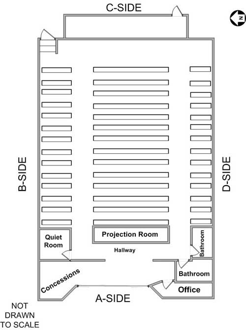 floor plan of interior of theater