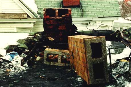 Collapsed Brick Chimney