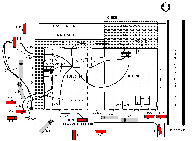 Cold Storage and Warehouse Building Hoseline/Apparatus Layout First Floor View  sc 1 st  CDC & Fire Fighter Fatality Investigation Report F99-47 | CDC/NIOSH
