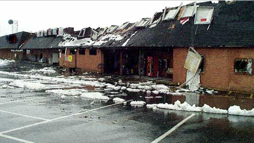 Supermarket where one fire fighter lost his life
