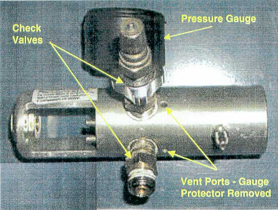 Vent ports located in the low pressure section of the regulator.