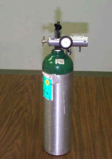 A D-size cylinder similar to the one that was involved in the incident.