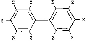 Polychlorinated biphenyls (PCBs) describe a group, of synthetic chlorinated organic compounds having the following structure