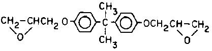 diglycidyl ether of bisphenol A