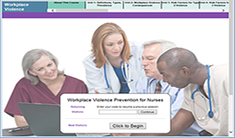 This award-winning course educates nurses on the scope and nature of violence and how to prevent it in the workplace. Take the course to earn your free continuing education units!