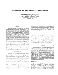 pillar strength equation Beq /h pillar average width-to-height ratio finally, the estimated pillar strengths according to the pro- σ1 material uniaxial compressive strength posed formula and well-known formulations in the literature σu unconfined compressive strength of a cu- were compared.