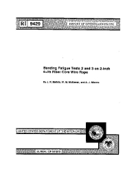 CDC - Mining - Bending Fatigue Tests 2 and 3 on 2-Inch 6x25 Fiber ...