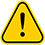 warning sign yellow, exclamation mark icon