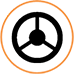 vehicle steering wheel icon